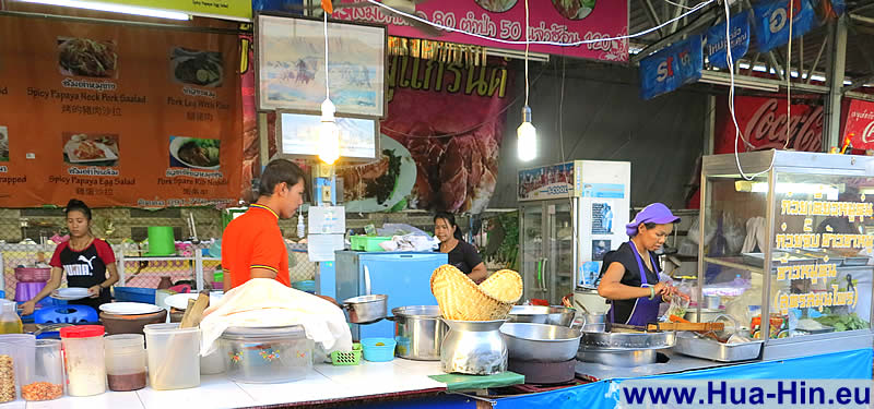 Many cook-shops Grand Market Hua Hin