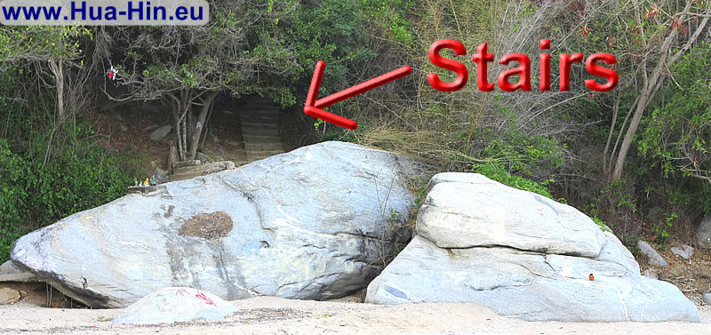 Hidden stairs to the hill top Khao Tao
