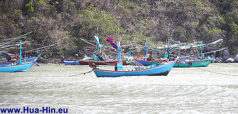 Fishing boats in Pranburi